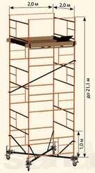 ВЫШКА ТУРА строительная высота 21 метр