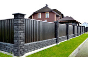 Строительство ограждений из кирпича и блока